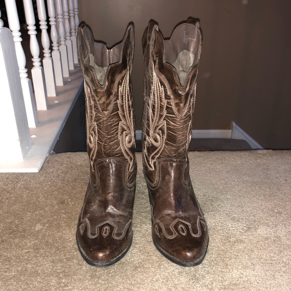 Cowgirl country western boots women\u2019s 9 wide calf